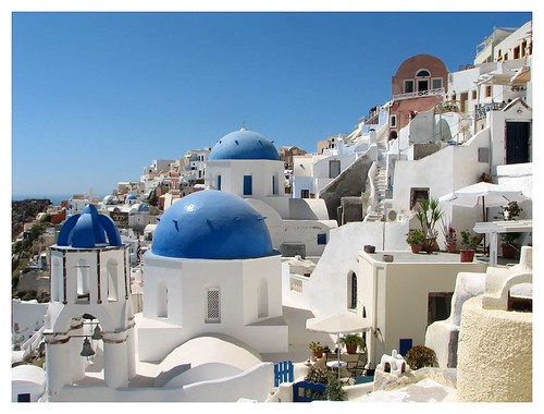 Blue domes of Santorini by you.