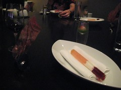 Bubble Gum, Transparency, Watermelon courses - Dinner at Grant Achatz's Alinea in Chicago