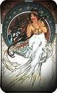 Las artes 1898, musica. Alphonse Mucha.