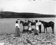Calling the ferry, St. John River, NB, 1915 (?)