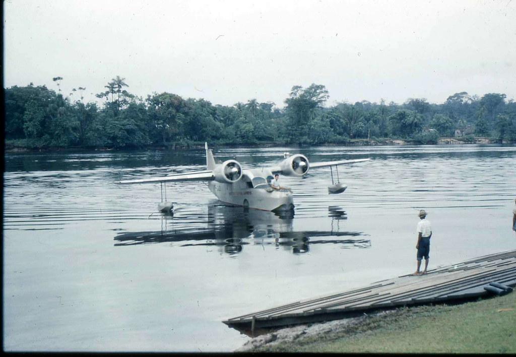 Grumman Goose Docking at Mackenzie, British Guiana