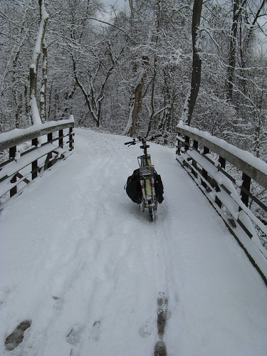 Snow on the Bike Path