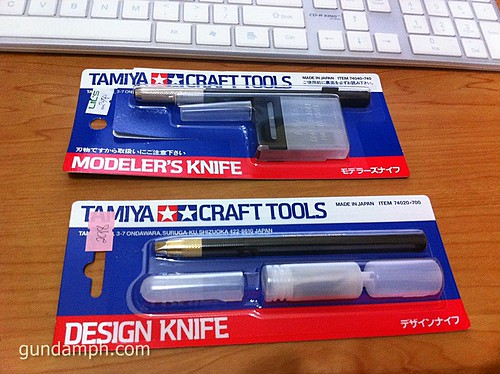 tamiya modeler's knife versus design knife
