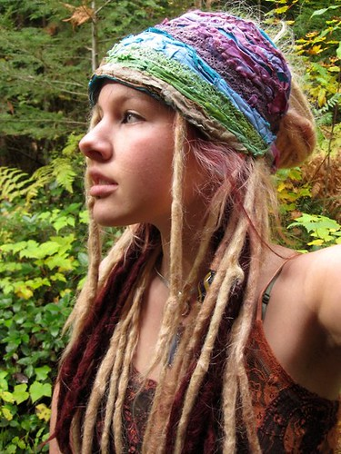 blonde in dreadlocks