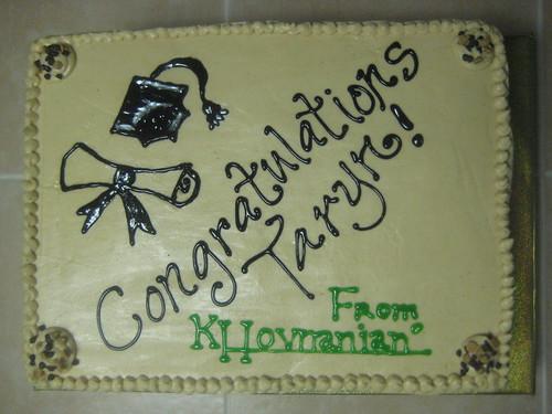 Taryn's Master's Graduation Cake from KHov