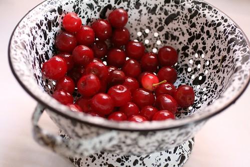 Cherries drying