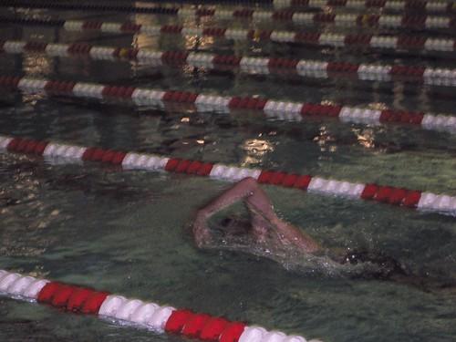 Rob swimming 500 yard freestyle