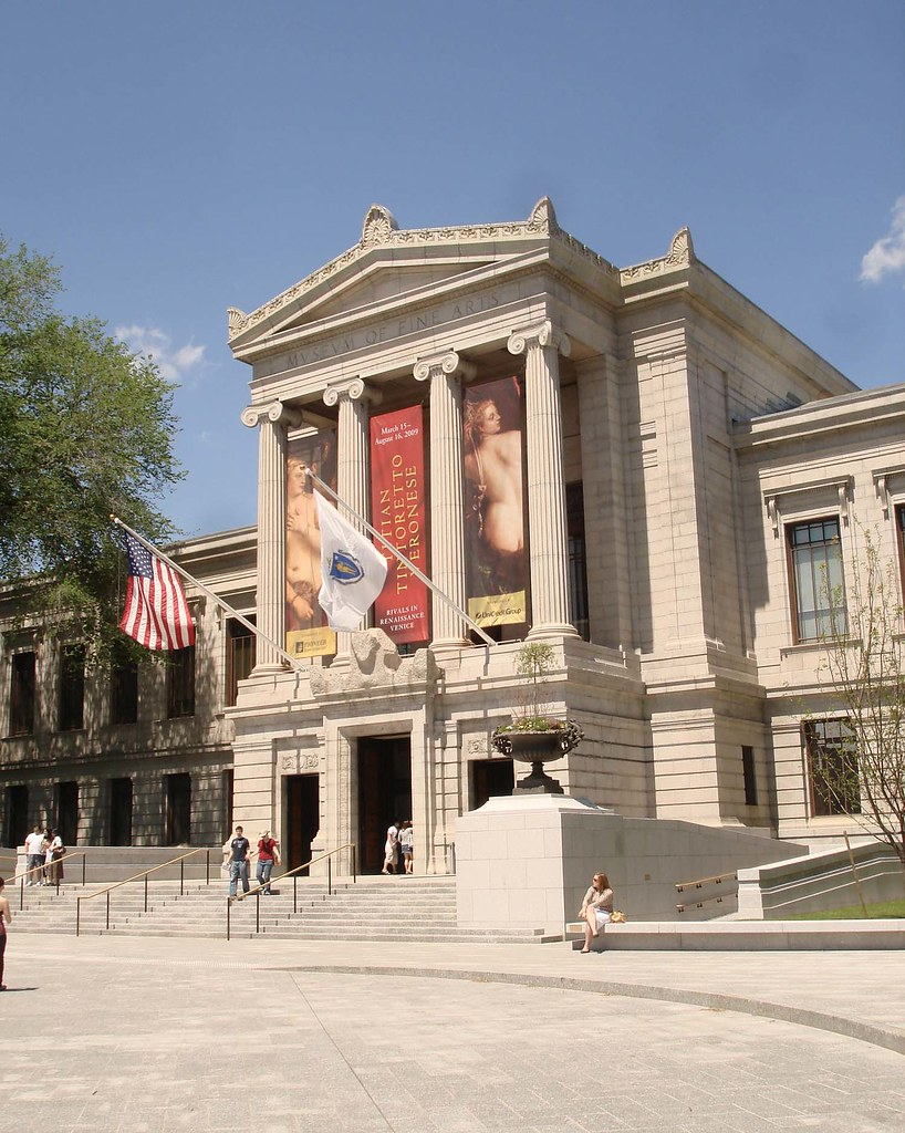 Building the New Museum of Fine Arts MFA beadwork beadnet dress egyptian ancient beads