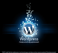 Simply Something Sophisicated - a WordPress poster