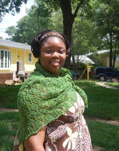 leaf lace shawl 1
