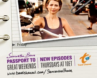 Travel Channel's Samantha Brown
