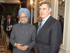 Gordon Brown and Manmohan Singh