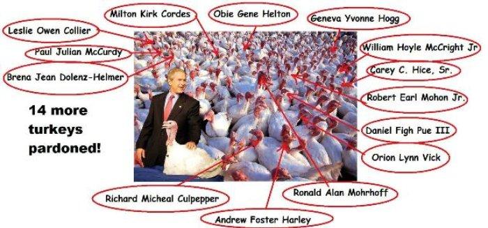 14 More Turkeys Pardoned!