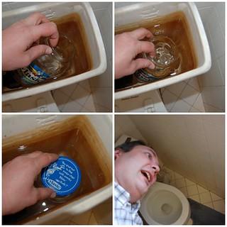 DIY low-flow toilet!