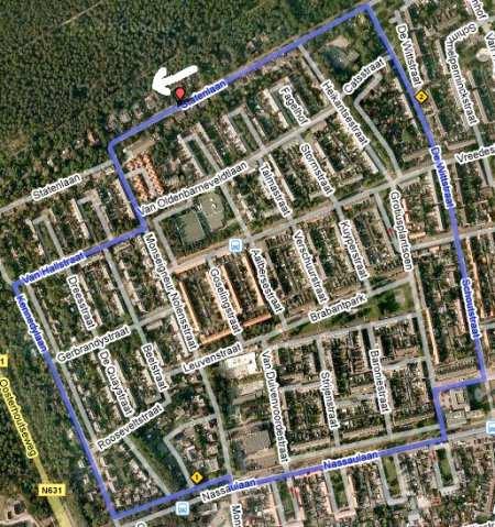 Parcourskaart Rondje Rijen