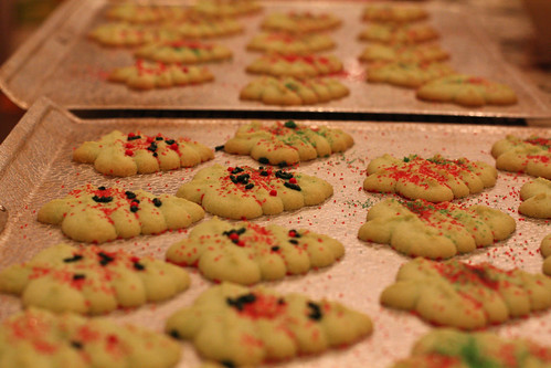 Finished Christmas Tree Cookies
