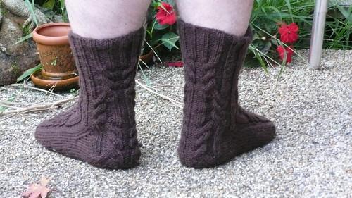 Lossy's Log Cabin Socks