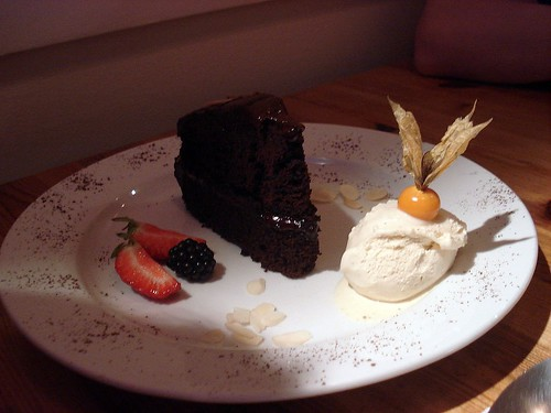 222 - Chocolate cake and ice-cream by you.