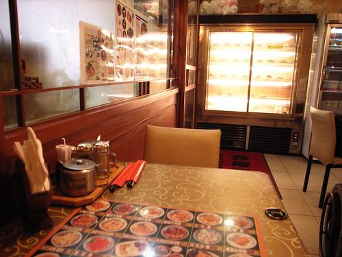 老董牛肉細粉麵店:我坐的位置