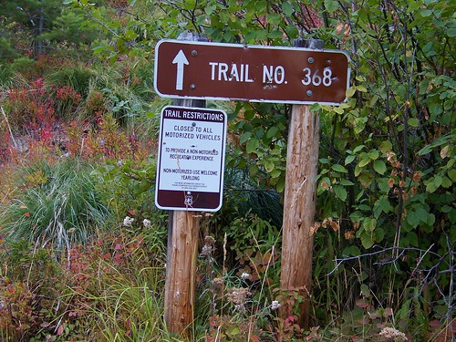 Start of the trail to the lookout
