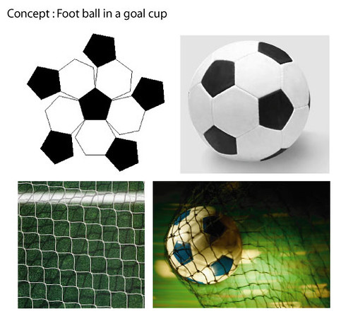 ice cream in a goal cup