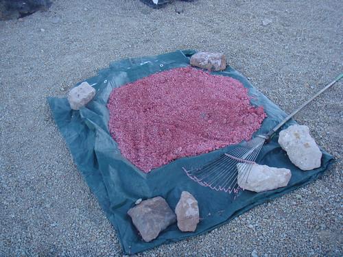 Red gravel!