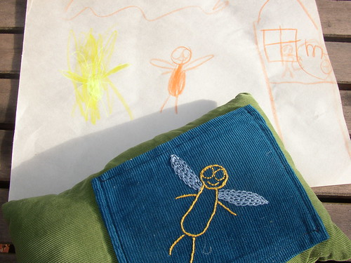 tooth fairy pillow and drawing