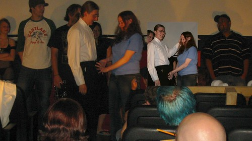 20070520 - Rocky Horror Picture Show - IMG_2238 - Casey guessing what is in his pants