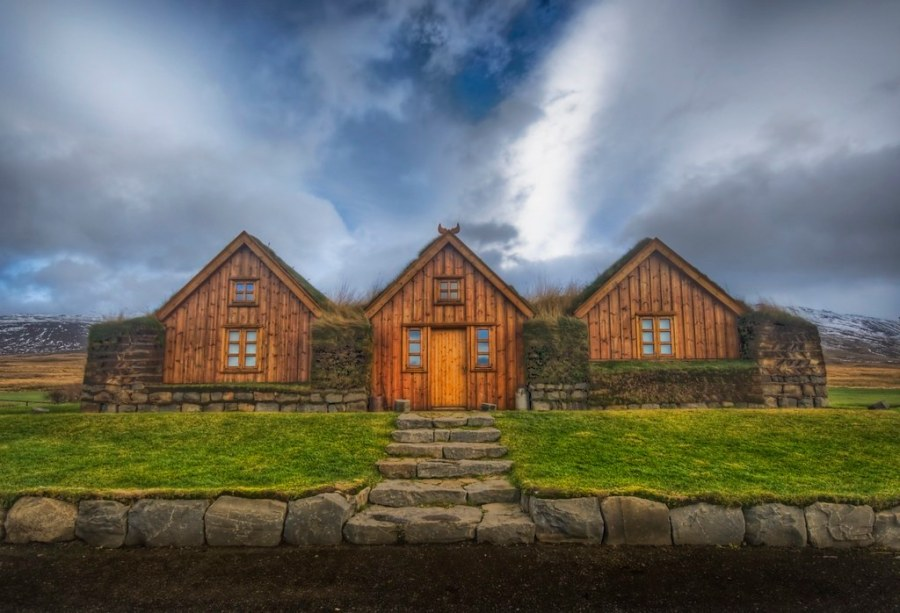 Three Houses with a Grass Roof