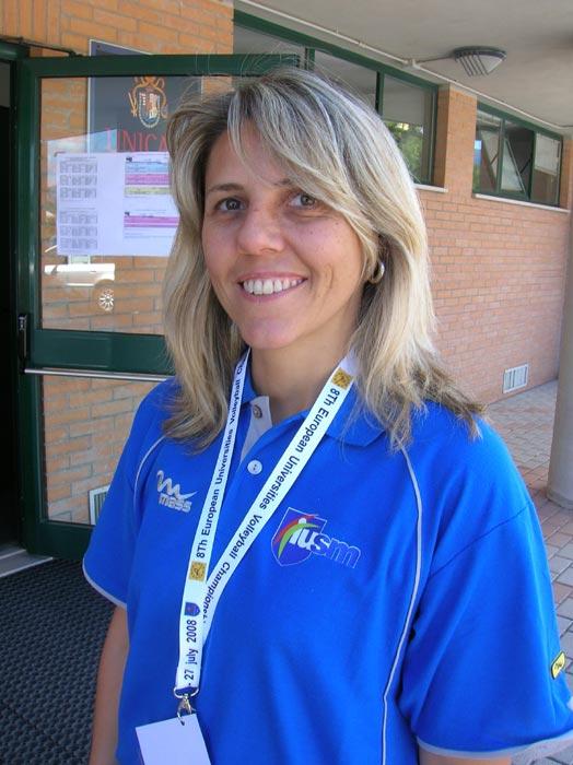 Antonella Ferrari, allenatrice della squadra di pallavolo dellUniversità degli Studi di Roma FORO ITALICO