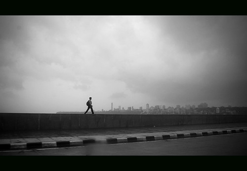 Walk Alone in Marine Drive  Mumbai