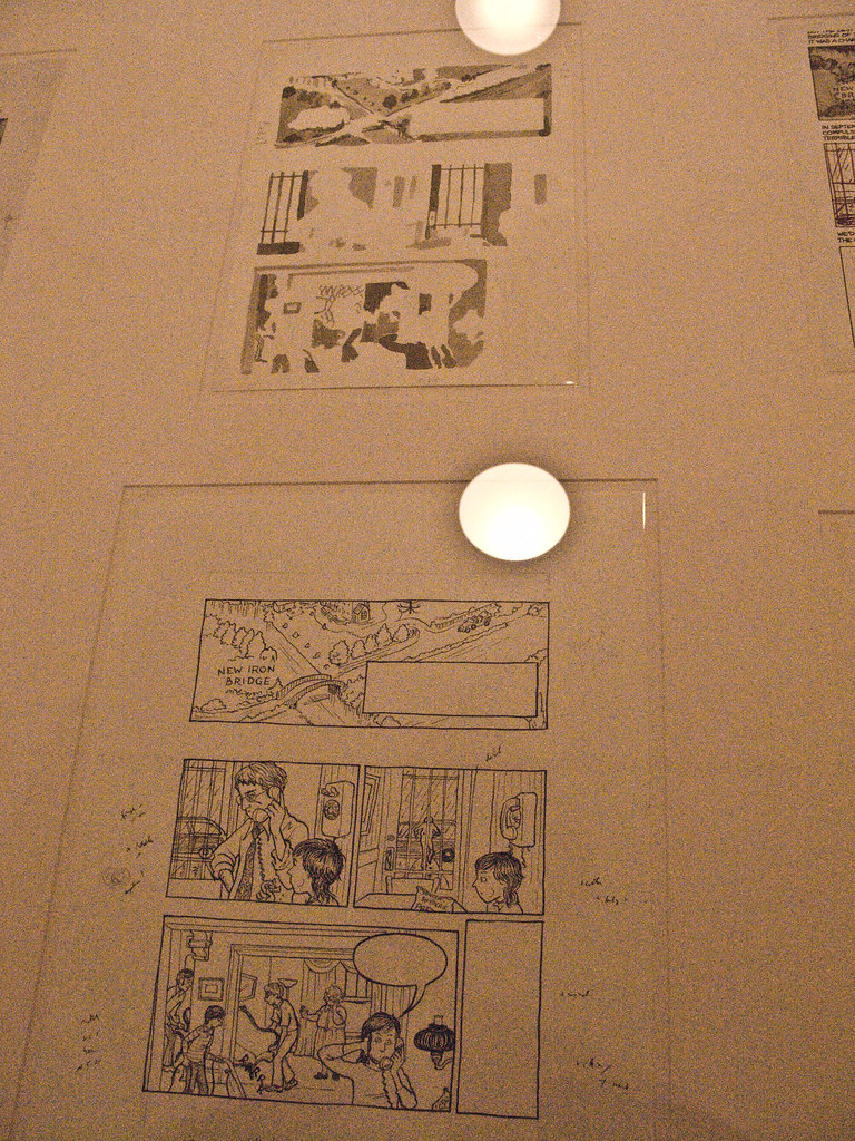 Inked line art & washes for Alison Bechdels Fun Home.