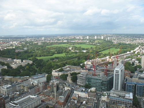 Hyde Park from the BT Tower
