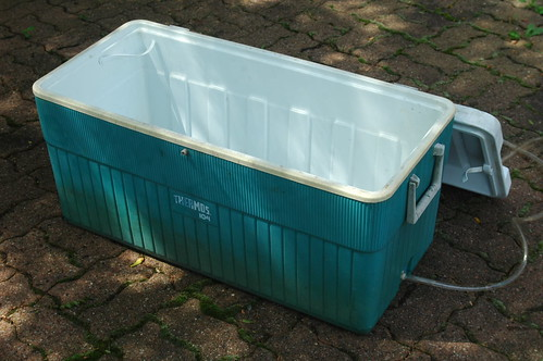 This is the large cooler before being painted black.