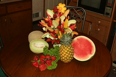 Our Homemade Fruit Arrangement