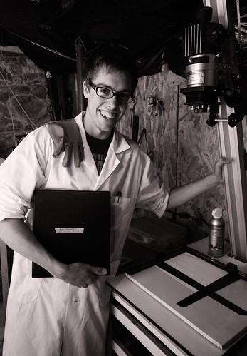 Eliot in his home darkroom.