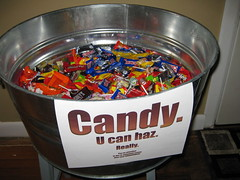 Our leftover candy