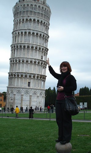 Me holding up the Leaning Tower of Pisa