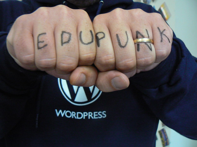 Jim Groom's EDUPUNK tattoo.