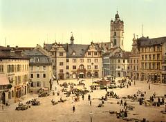 Market place, Darmstadt, Germany, ca. 1895