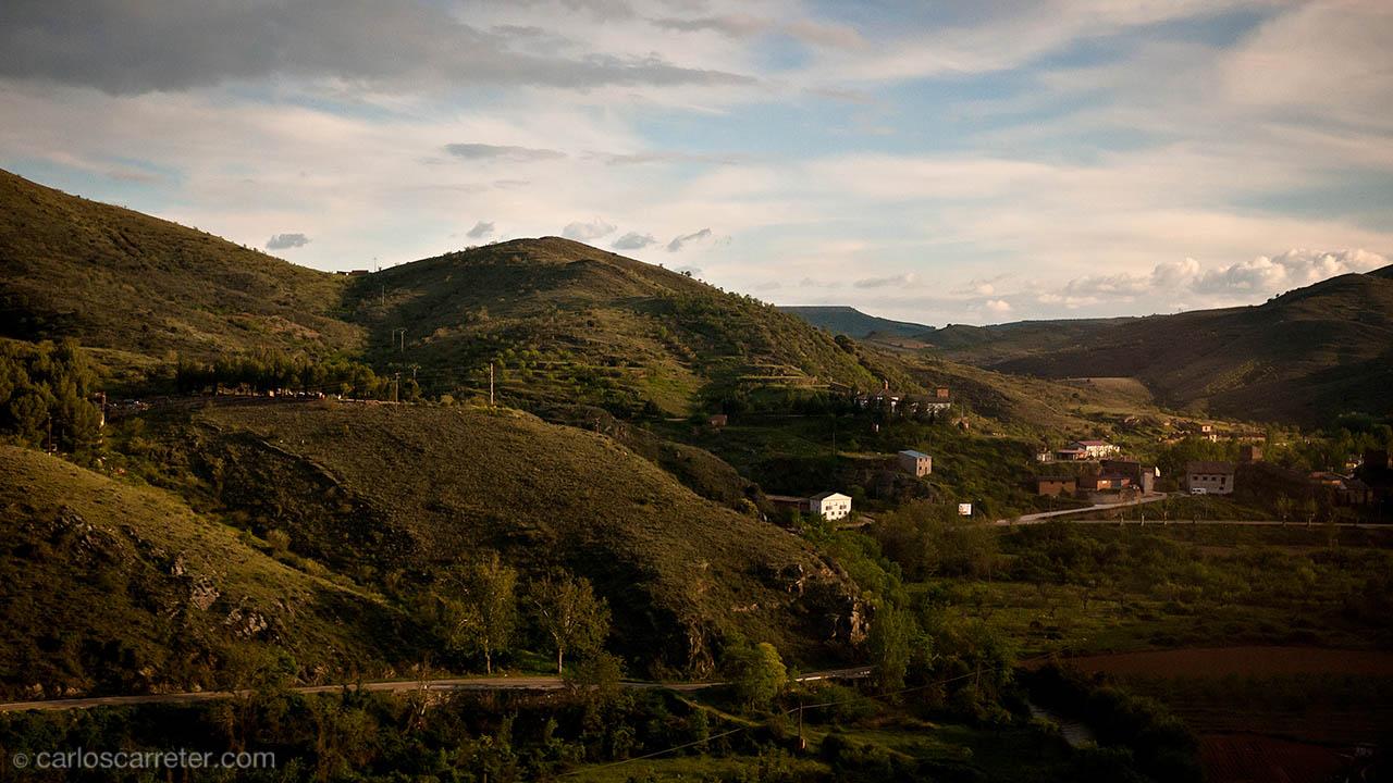 Paisaje desde el AVE (provincia de Soria)