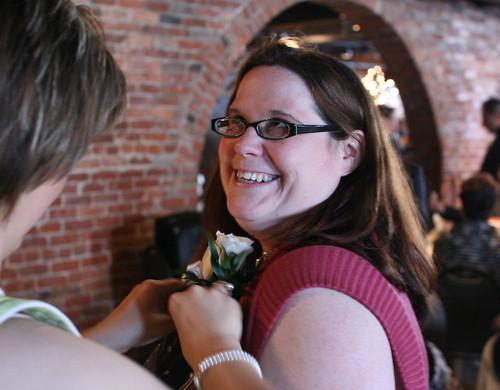 Jen gets pinned by Inkygirl.