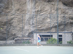 Jil tennis in Positano