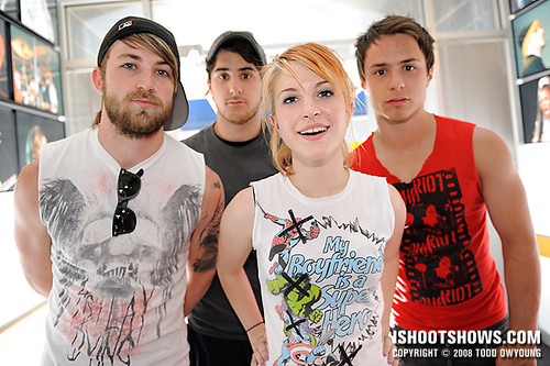 Backstage with Paramore