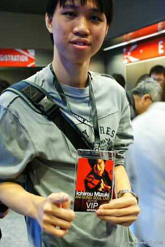 A dude with Ichirou Mizuki VIP pass