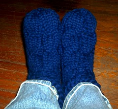 Cabled Slippers for Dad