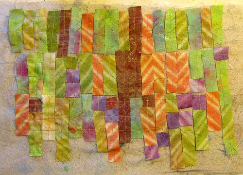 Anatsui stitched quilt