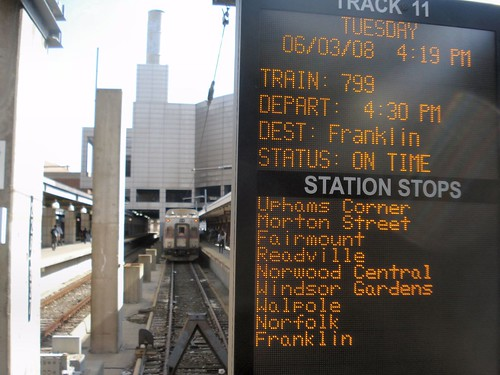 South Station - New info signs