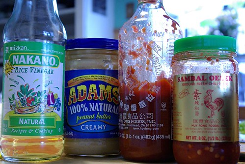 ingredients for peanut sauce