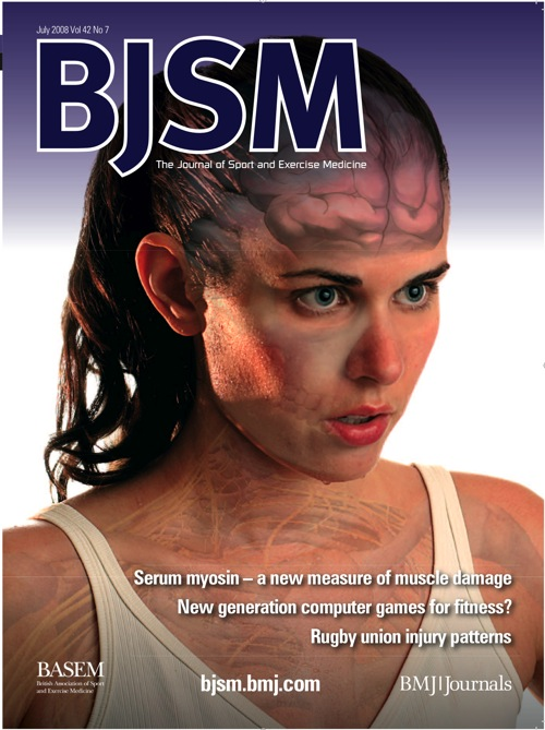 Redpilot's first cover: British Journal of Sports Medicine
